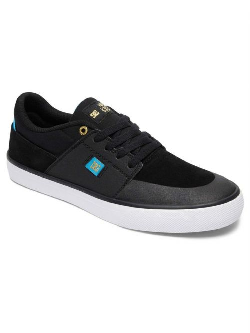 DC SHOES MENS TRAINERS.WES KRAMER BLACK LEATHER SKATE SHOE RUBBER SOLE 7W 5 XKBW